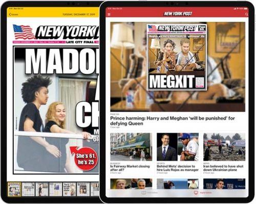 Symulowany obraz aplikacji ns-post.com na iPadzie